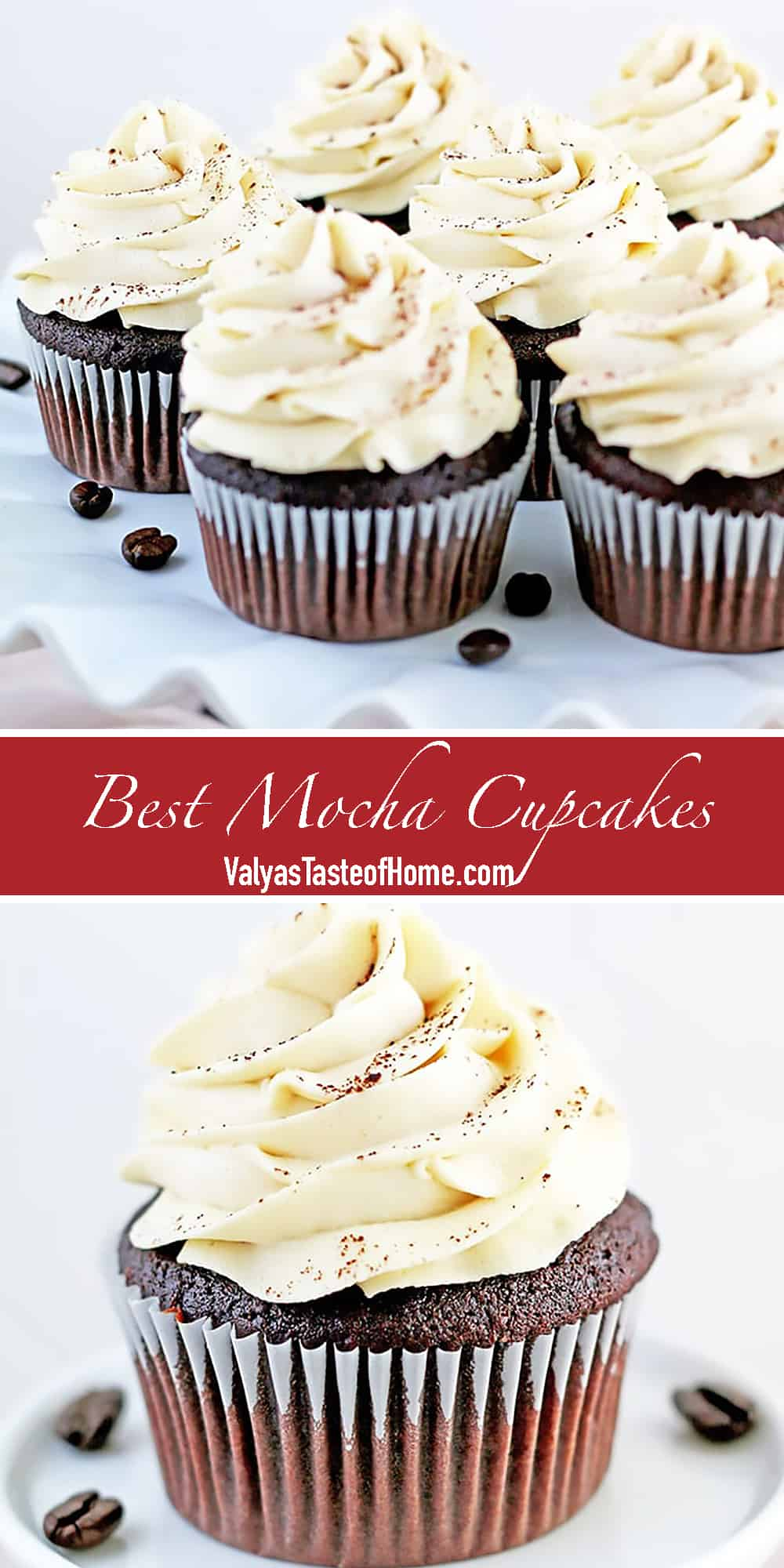 Coffee and chocolate are calling my name! Who can relate? Satisfy both cravings in two bites of this incredibly delicious Mocha Cupcakes Recipe.