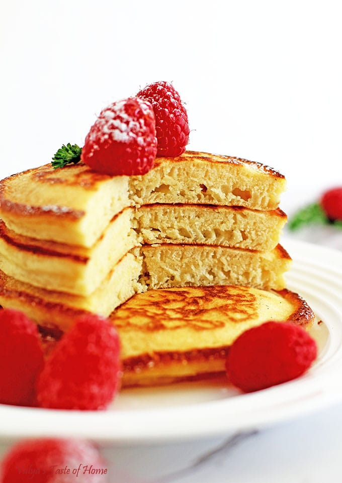 Easy Light and Fluffy Greek Yogurt Pancakes Recipe