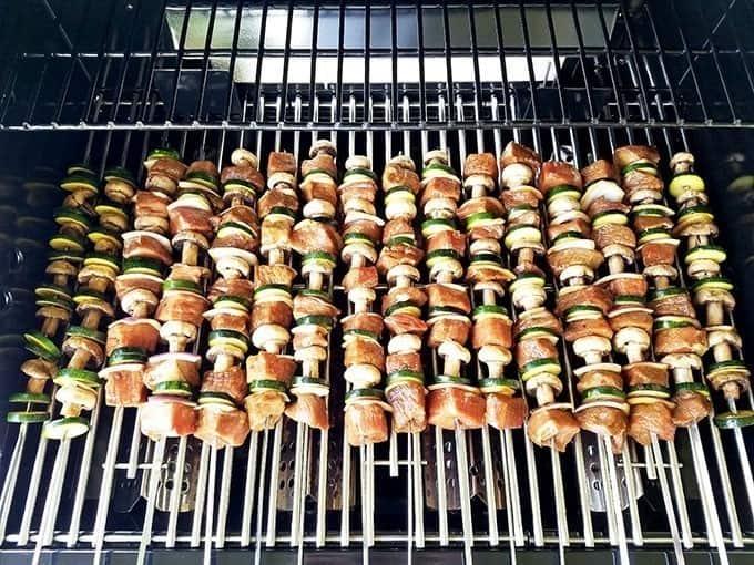 Grilled Vegetables and Steak Kabobs Recipe
