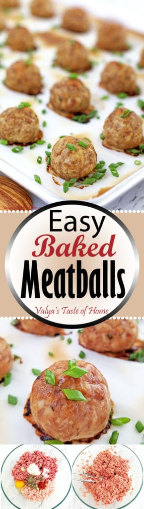 Easy Baked Meatballs Recipe