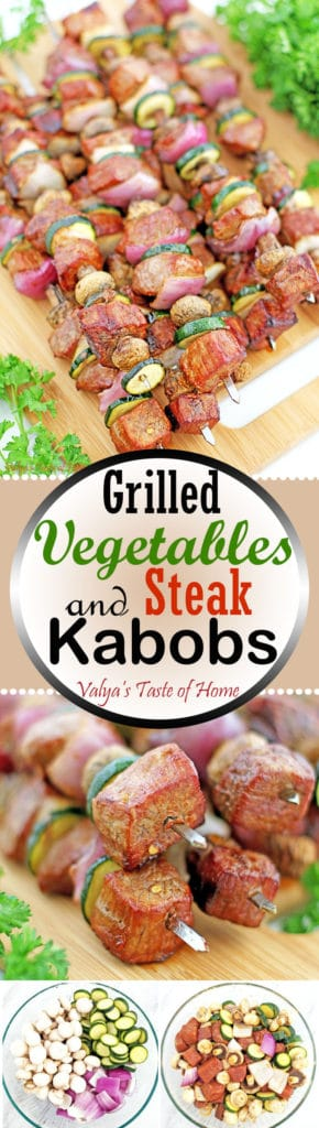 Grilled Vegetables and Steak Kabobs Recipe