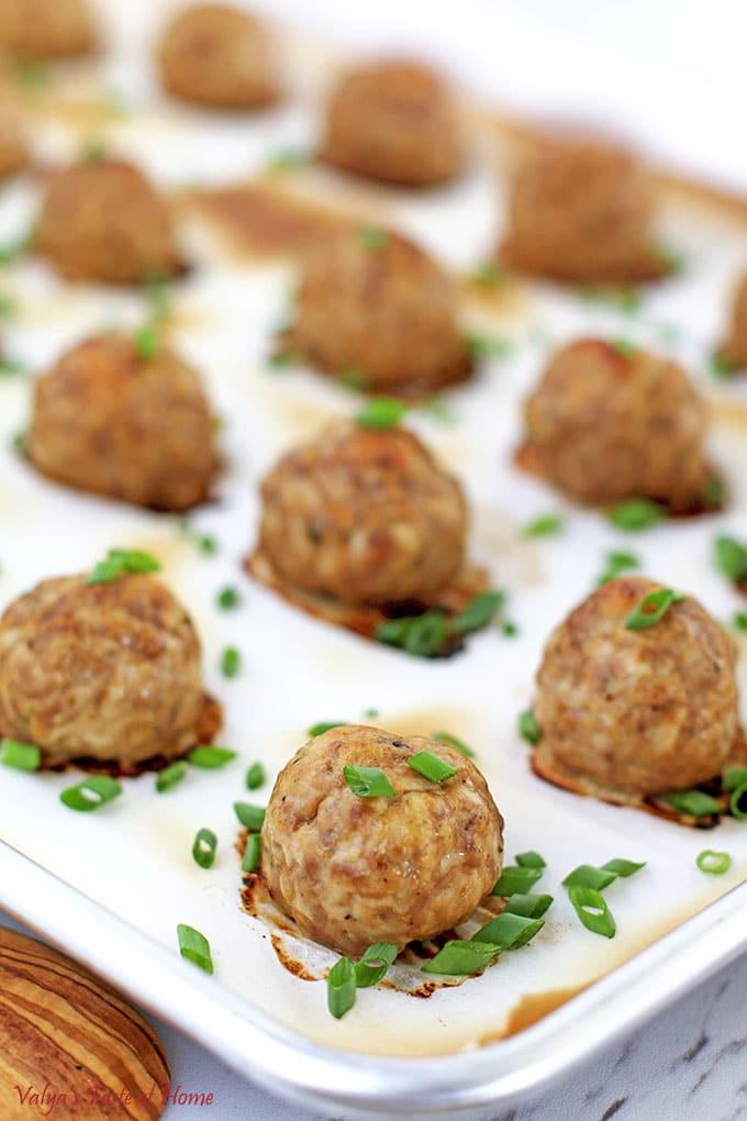 Easy Baked Meatballs Recipe