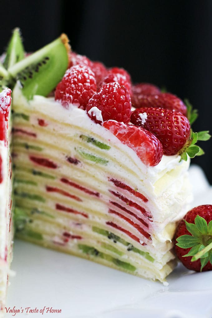 Fruit Crepe Cake Recipe