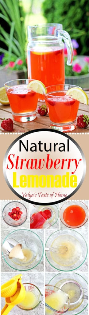 Natural Strawberry Lemonade Recipe