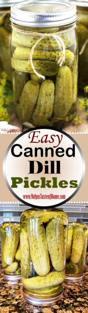 Canned Dill Pickle Recipe - NatashasKitchen.com  |Canning Dill Pickles