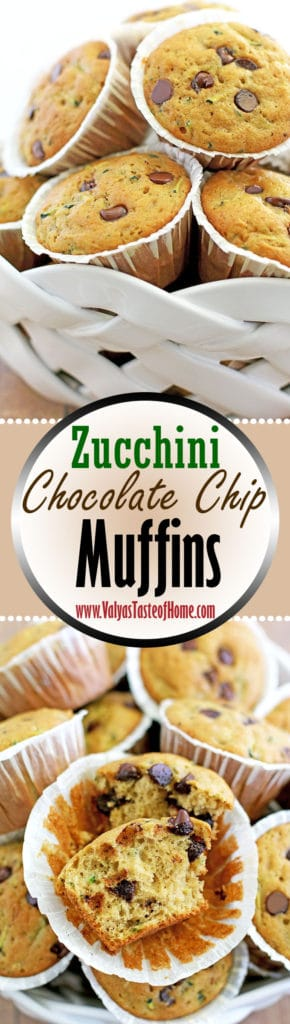 Zucchini Chocolate Chip Muffins Recipe