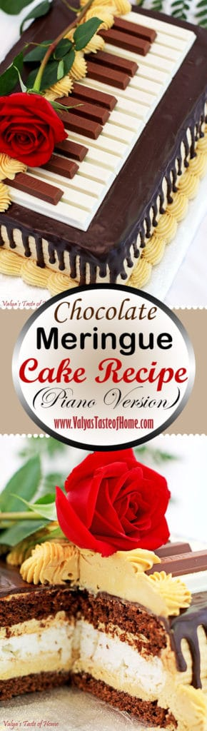 Chocolate Meringue Cake Recipe (Piano Version)