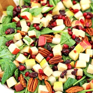 Pear Apple Pomegranate Pecan Spinach Salad Recipe