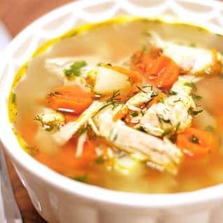 Leftover Thanksgiving Turkey Rice Soup Recipe
