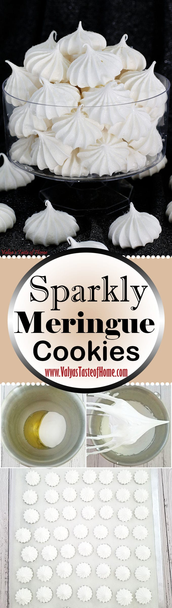 Sparkly Meringue Cookies, beautiful holiday dessert, cookies, delicious cookies, edible glitter, holiday baking, kids aproved, kids love it, meringue, Sparkly Meringue Cookies, super easy to make