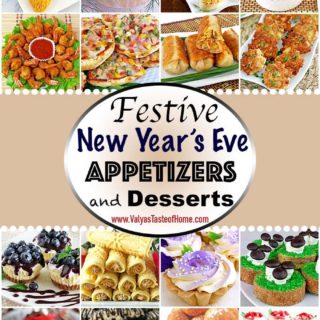 Festive New Year's Appetizers and Desserts