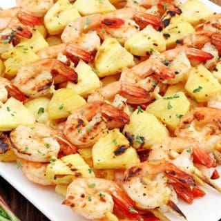 Grilled Hawaiian Shrimp Kabobs Recipe