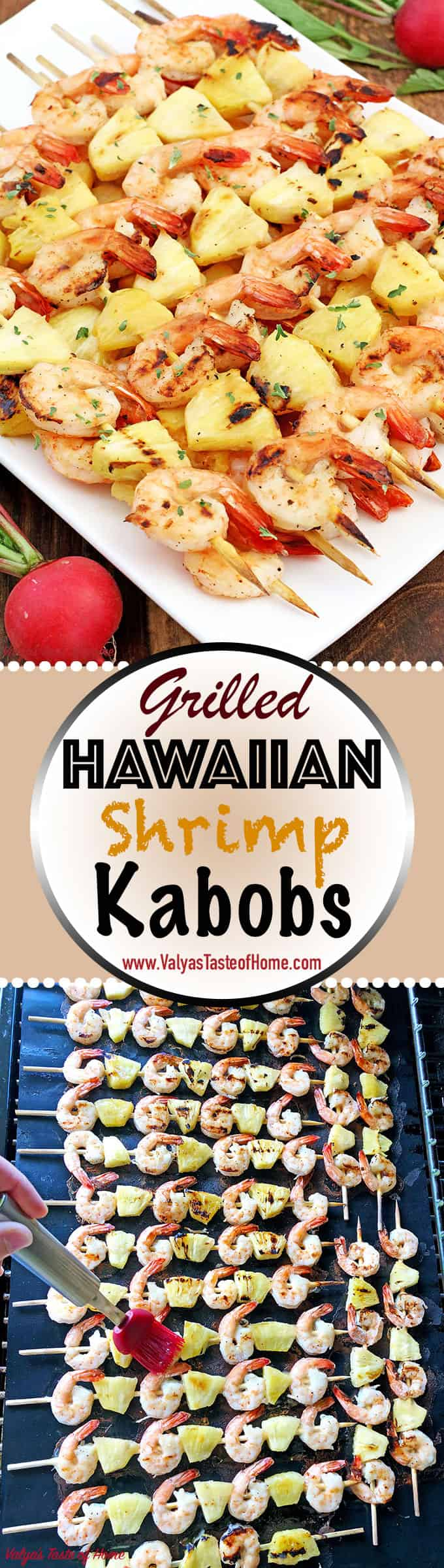 This Grilled Hawaiian Shrimp Kabobs Recipe is easy to put together. They require very few ingredients and work, but their presence can make anyone drool. It's perfect for the upcoming 4th of July holiday, for the park, or your backyard family gathering.