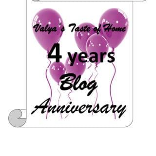 Valya's Taste of Home 4 Years Blog Anniversary Giveaway!