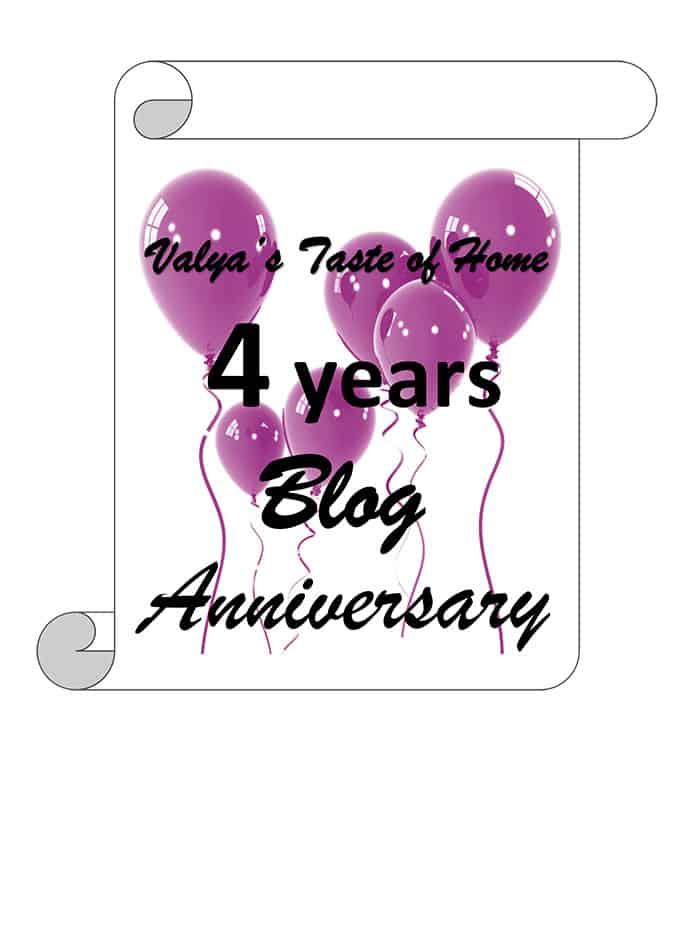 Valya's Taste of Home 4 Years Blog Anniversary Giveaway!