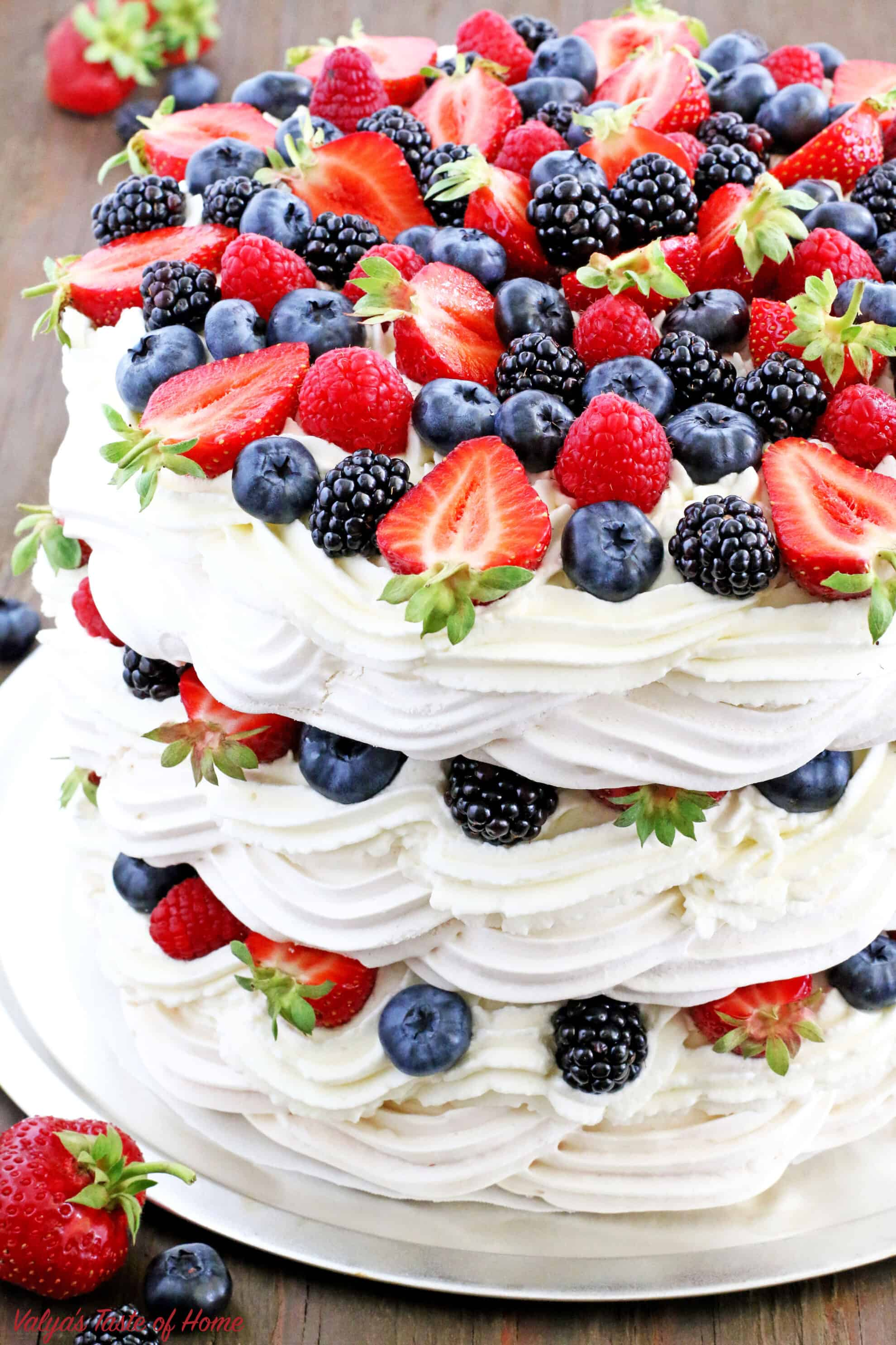 Very Berry Boccone Dolce Cake Recipe Video Valya S Taste Of Home