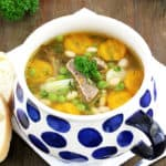 comfort food, delicious, easy recipe, family dinner, family favorite, hearty meal, homemade, instant pot soup, Instant Pot Vegetable Beef and Bean Soup Recipe, kids love it, perfect lunch, quick and easy, quick and easy soup recipe, vegetables