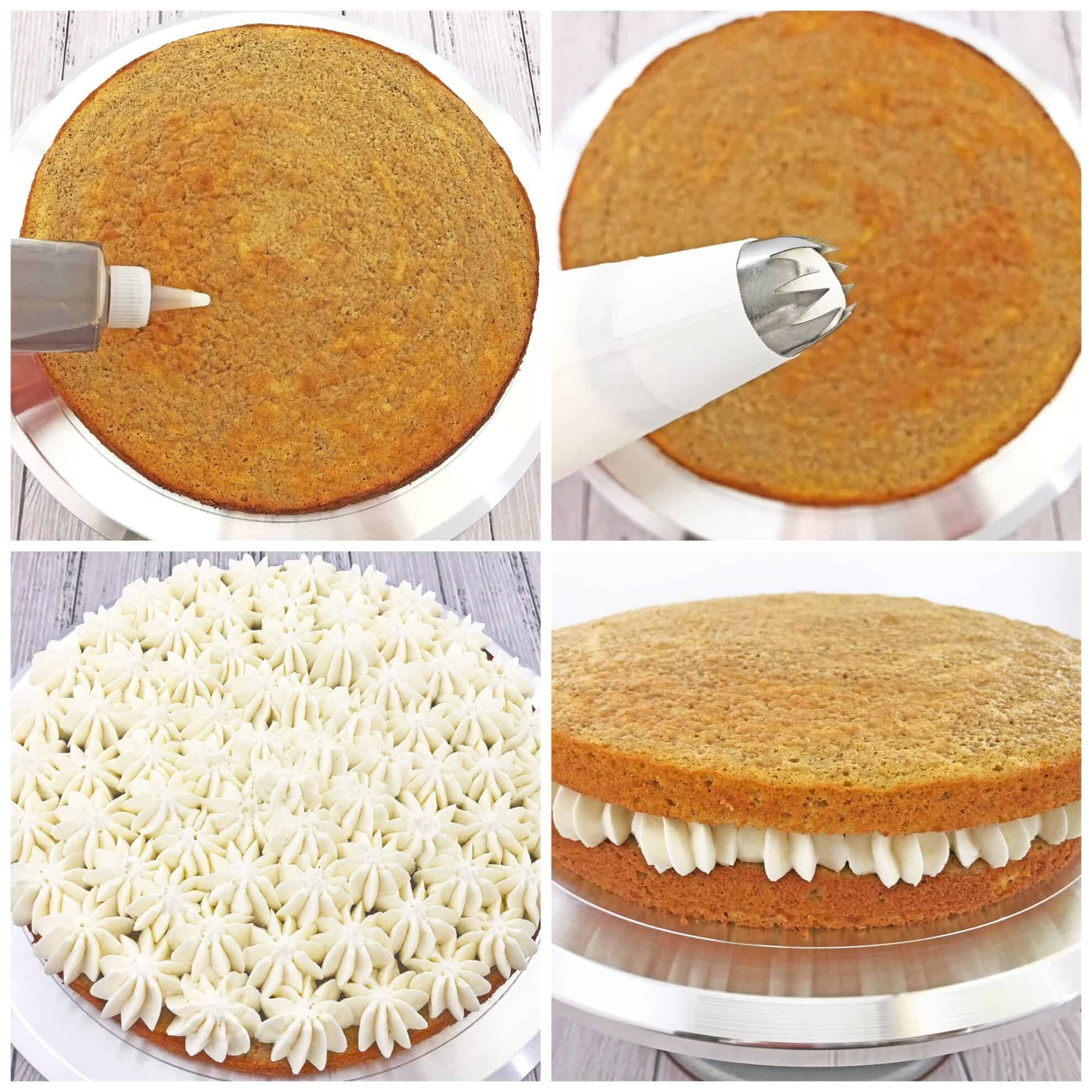 This Pumpkin Tiramisu Cake Recipe is the perfect segue into the colorful Fall season and all its delicious flavors! It is not overly sweet but is very fluffy, moist and delicious. #pumpkintiramisucake #fallbaking #easycakerecipe #valyastasteofhome
