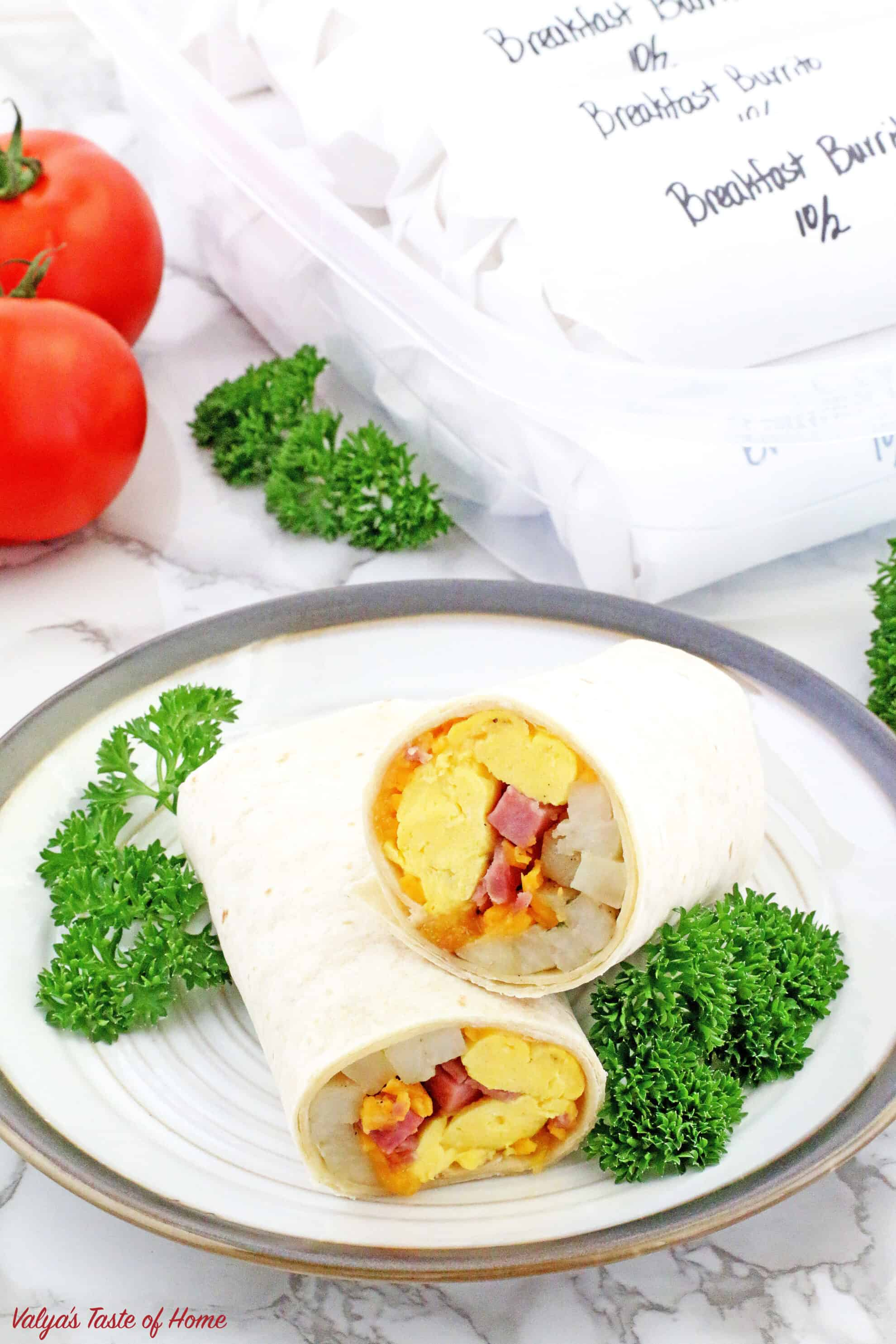 These Make-Ahead Breakfast Burritos are super easy to put together and brilliant for busy schedules. All the breakfast taste, zero-time spent cooking. It doesn't get any easier than this: reheat and eat!