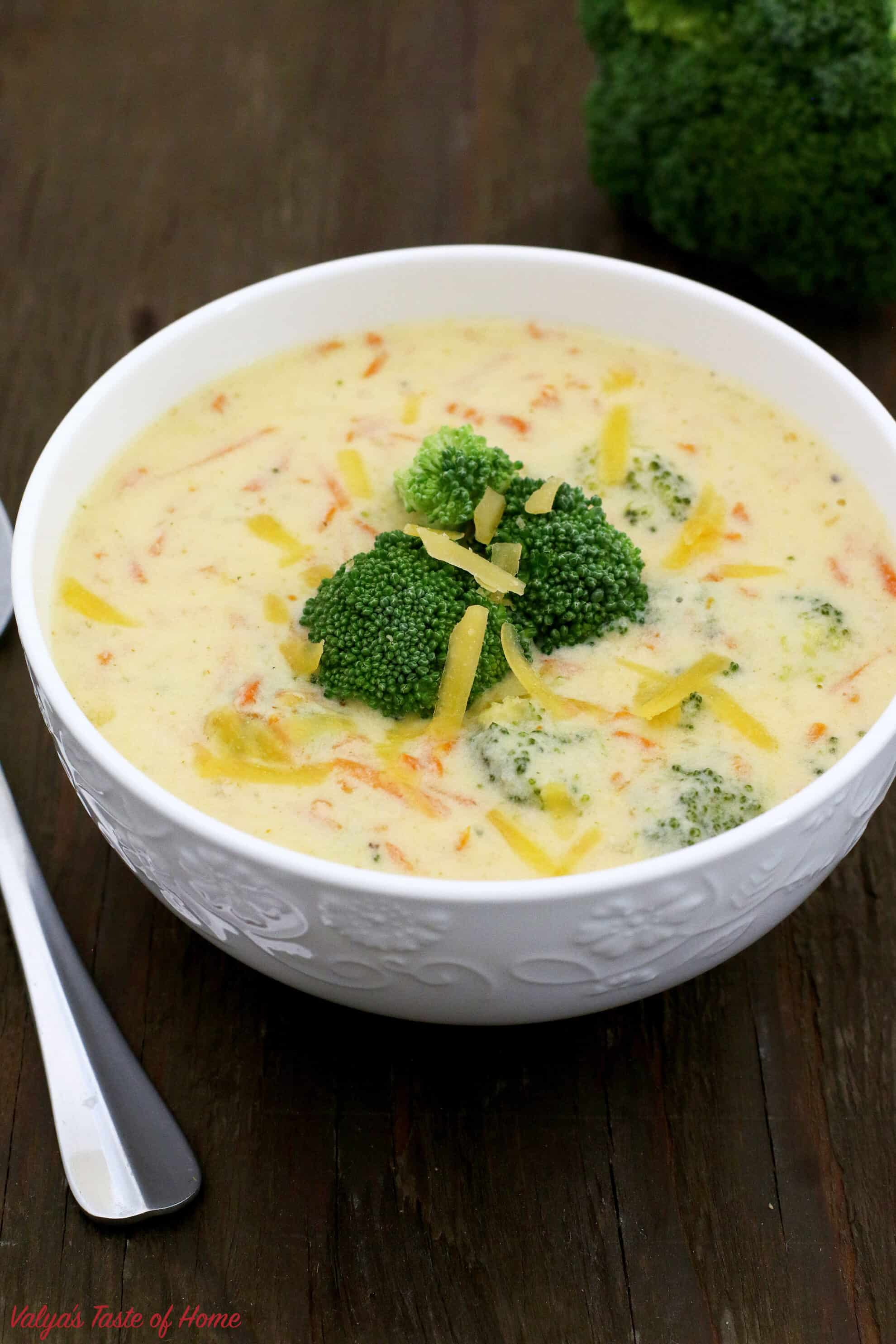 Easy Broccoli and Cheddar Soup (Video)
