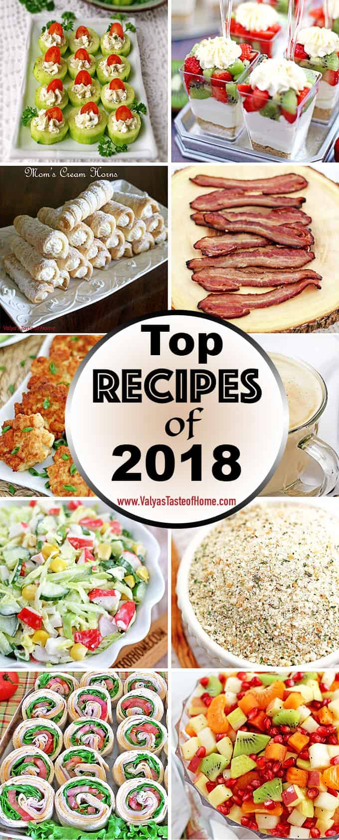 These are the Top 10 most popular recipes on the blog of 2018 year made by you my dear family, friends, and followers! I really appreciate all of your participation in making and sharing my recipes with your family and loved ones, your kindness, input, and comments! It has been a great year and that is due to all of you. Without you, it would be impossible to do what I love. Thank you very much for all your love and support!