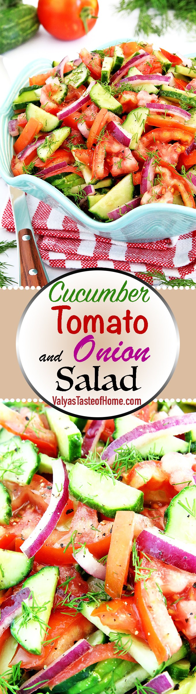 We have this Cucumber Tomato and Onion Salad Recipe most frequently during the summertime not only because these particular veggies grow in abundance but incredibly quick and so simple to produce. #homegrownproduce #freshvegetables #organiclygrown #valyastasteofhome