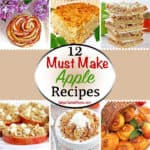 Today, I'd like to share with you our family's favorite apple treats in this 12 Must Make Apple Recipes round up, to help us transition into the Fall season! This compilation of twelve delicious apple recipes (plus one bonus one) was posted over a period of 5 years of my blogging journey. #mustmakeapplerecipes #deliciousrecipes #fallseasonrecipe #valyastasteofhome