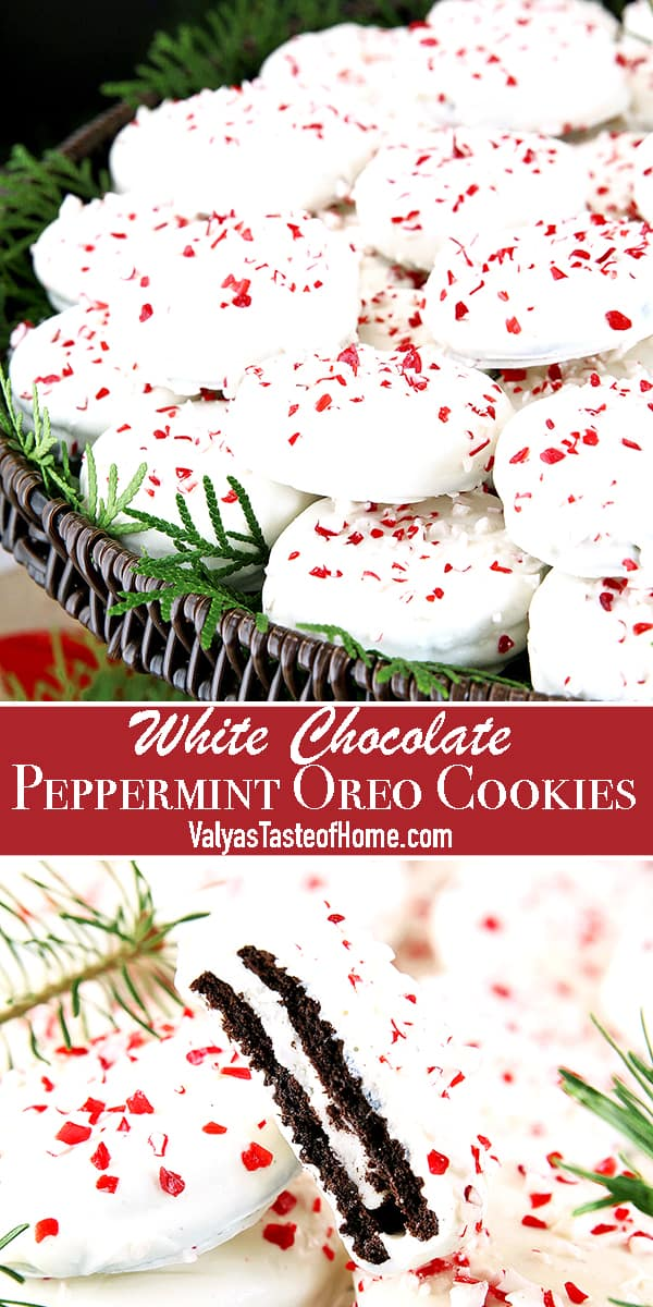 This White Chocolate Peppermint Oreo Cookies recipe is a super easy and great activity for the kids to make for the holiday with minimal adult assistant.