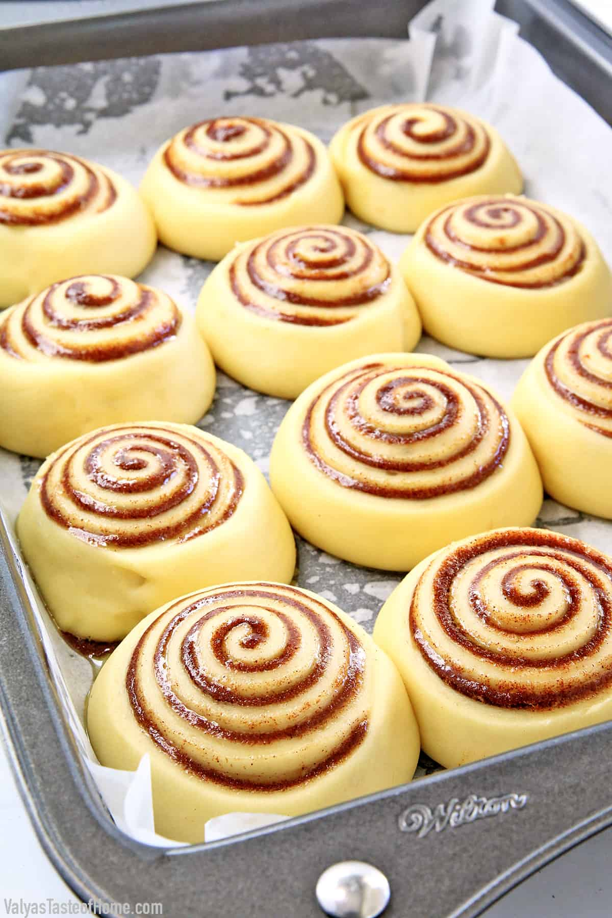 Rising the Cinnamon Rolls