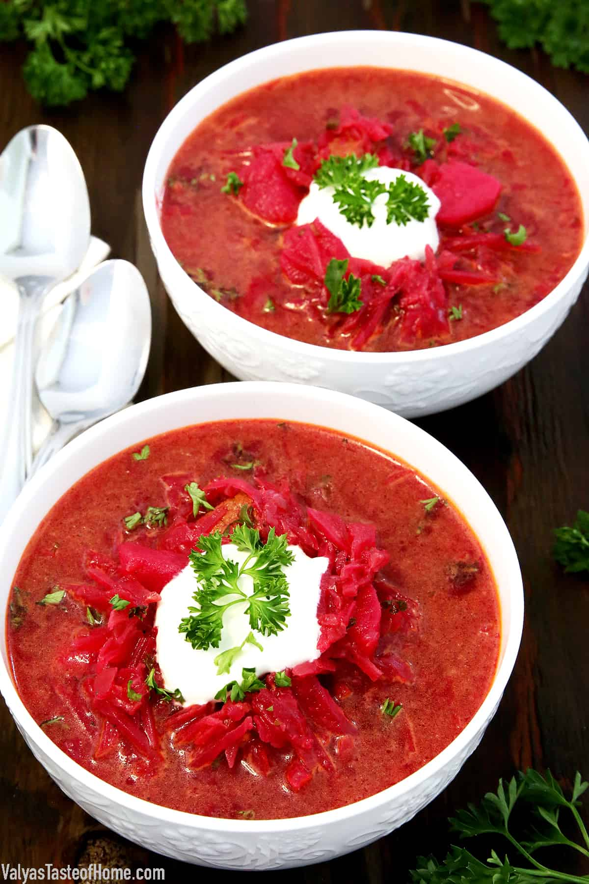 Red Borscht Recipe Beet Soup Valya S Taste Of Home