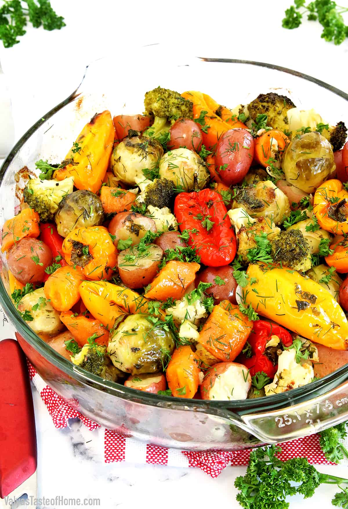 The name says it all! When I say simple, it is effortless, with just a few ingredients. This Simple Roasted Mixed Veggie Recipe is really healthy and nutritious. It's one of those recipes that you can just throw all the ingredients into a bowl, add seasoning to taste, bake, and enjoy!