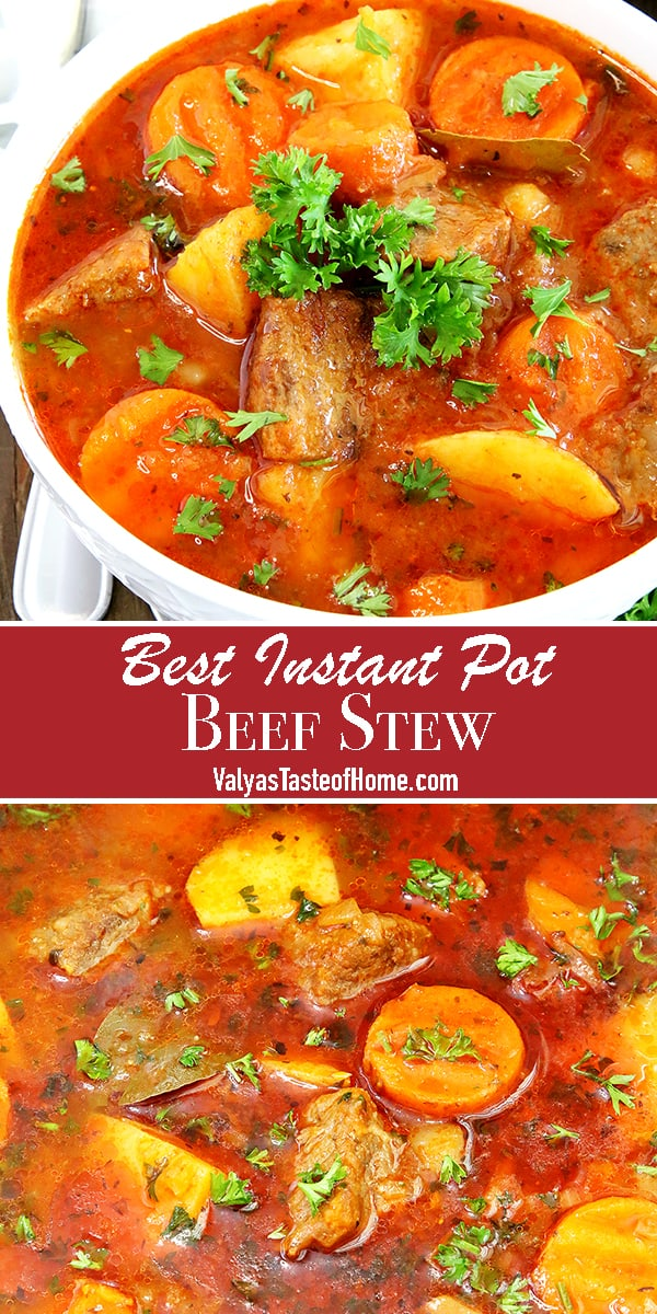 Fall is here, folks! And so is warm comfort food. What can be cozier, hearty, and comforting than a hot bowl of Best Instant Pot Beef Stew on a cold Fall season day to go along with broiled cheese sandwiches? This mouth-watering richness is delicious, savory, and loaded with vegetables.