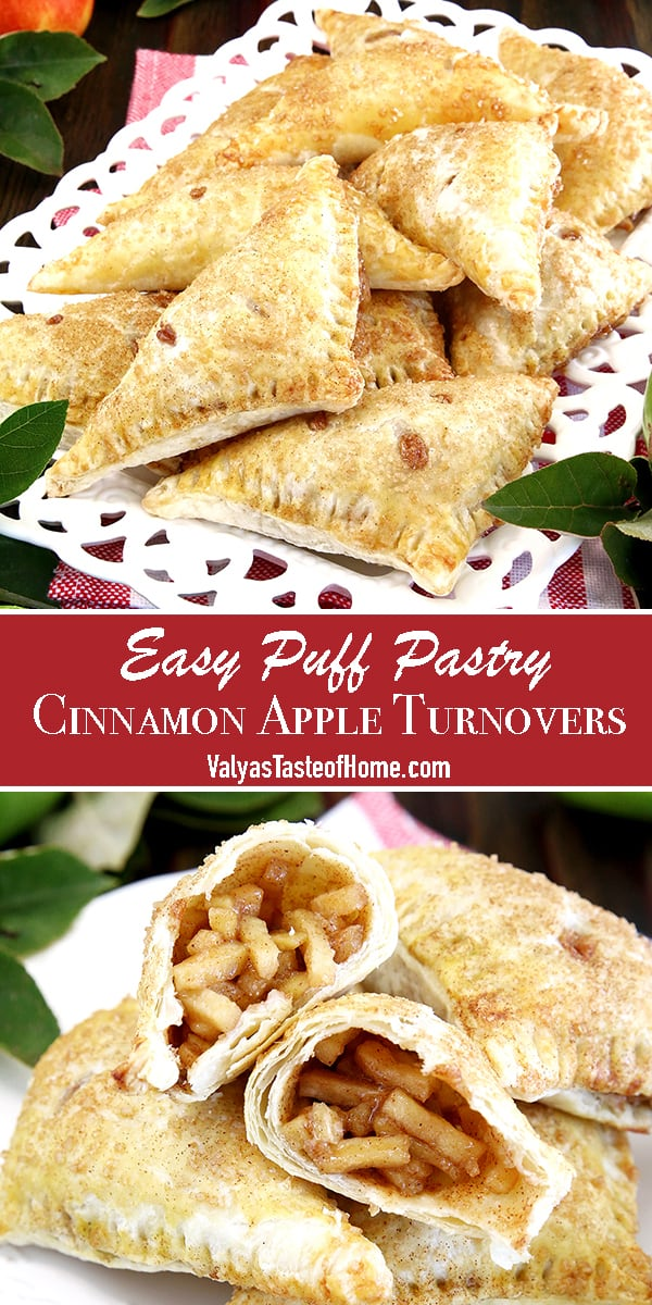 The well-loved flaky puff pastry filled with a simple homemade apple-pie-like filling, and sprinkled with cinnamon sugar makes this treat taste just like the classic apple pie. Minus the hassle of pie making and baking.