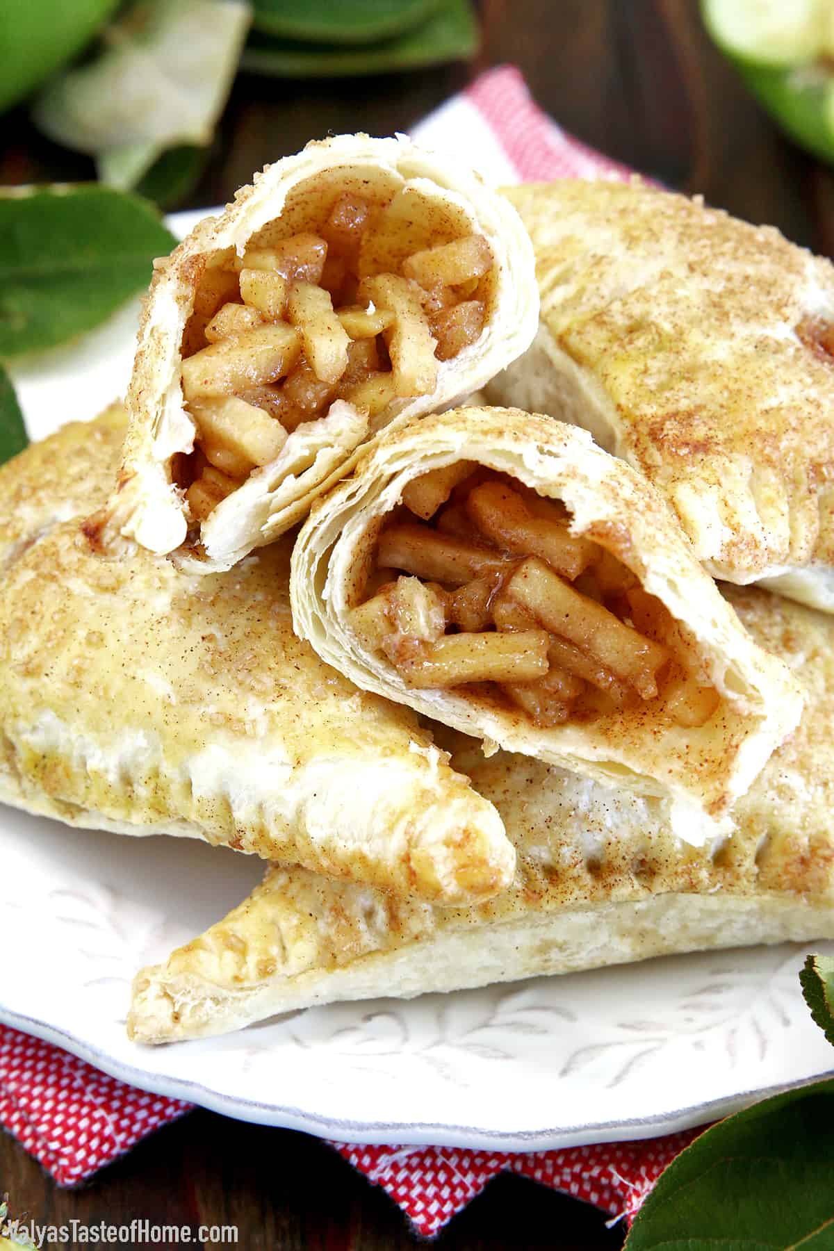 Fall just got sweeter! These Easy Puff Pastry Cinnamon Apple Turnovers are absolutely irresistible and as easy as can be. With the delicious cinnamon-apple pie flavors and quick mess-free grab-and-go convenience, what's not to like?