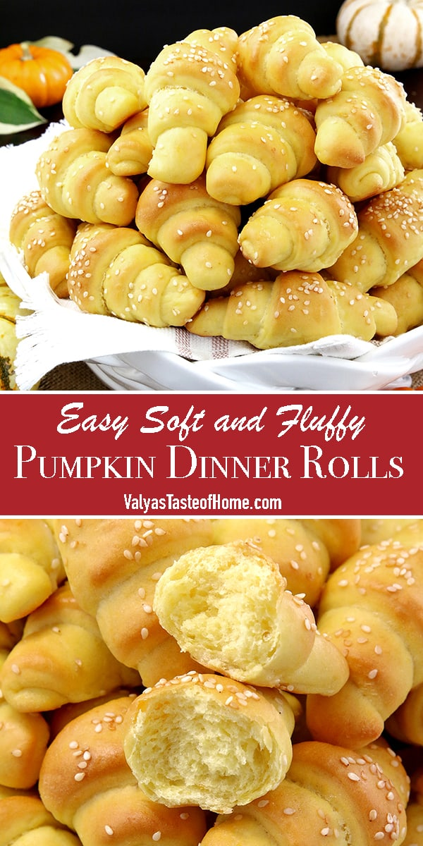 These Easy Soft and Fluffy Pumpkin Dinner Rolls are truly as dreamy as the title describes them. When it's rainy out, it is the perfect season to stay in and enjoy all kinds of comfy, nothing-like-homemade seasonal foods, such as these delicious, soft, fluffy, and pillowy pumpkin dinner rolls.