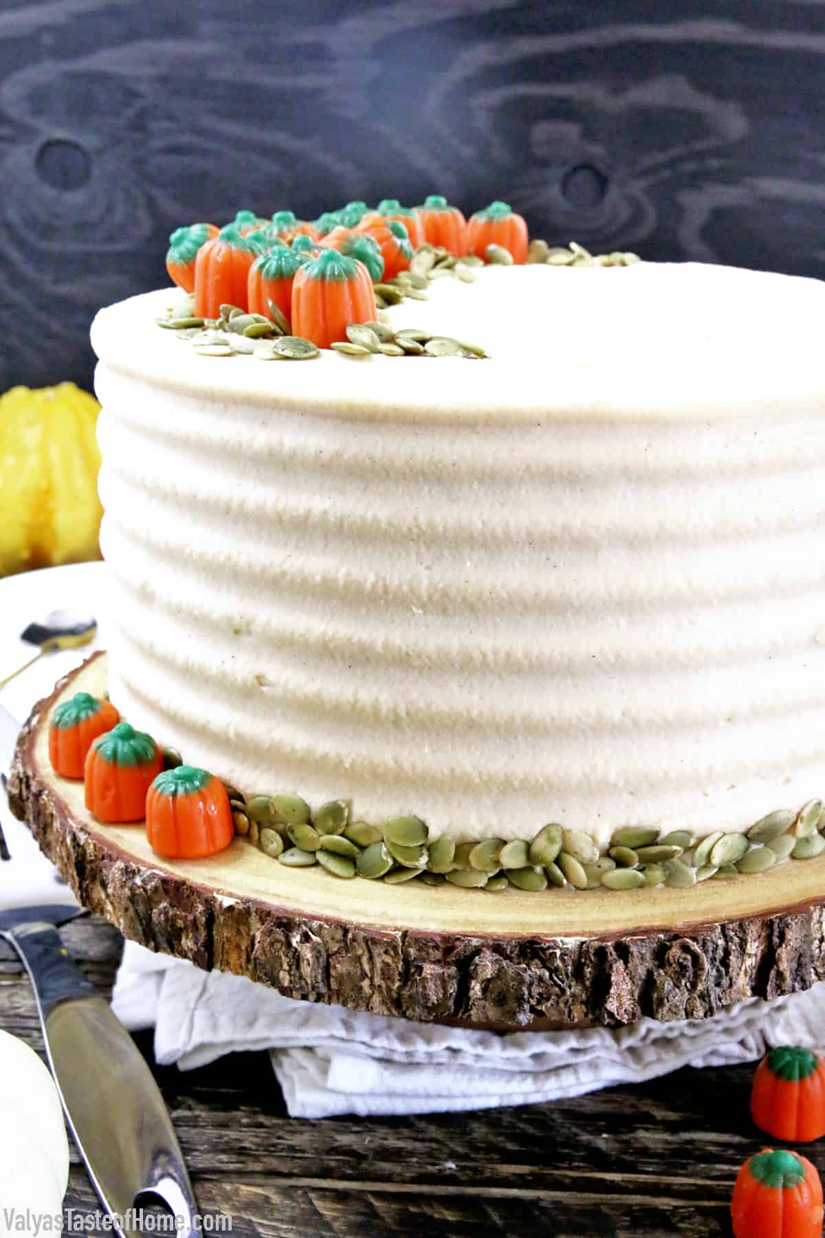 It is coffee. It is pumpkin. It is cake. All in one neat and delicious package! The sponge cake is tender and pillowy soft. Light, airy, moist, bursting with all the cravealbe Fall flavors: creamy pumpkin spice and coffee