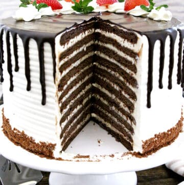 The Best Chocolate Spartak Cake is truly amazing and one of the best! It has many thin layers of soft and moist chocolatey delight with smooth and delicate frosting.