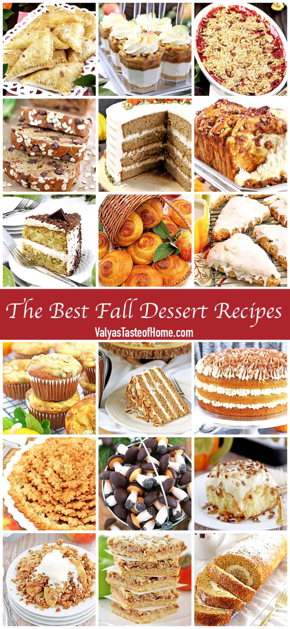 When the leaves start changing their color, and the coolerautumnweather with crisp air it's time to cozy up with a blanket and one of these warming The Best Fall Dessert Recipes with a cup of my favorite homemade hot vanilla caramel latte.